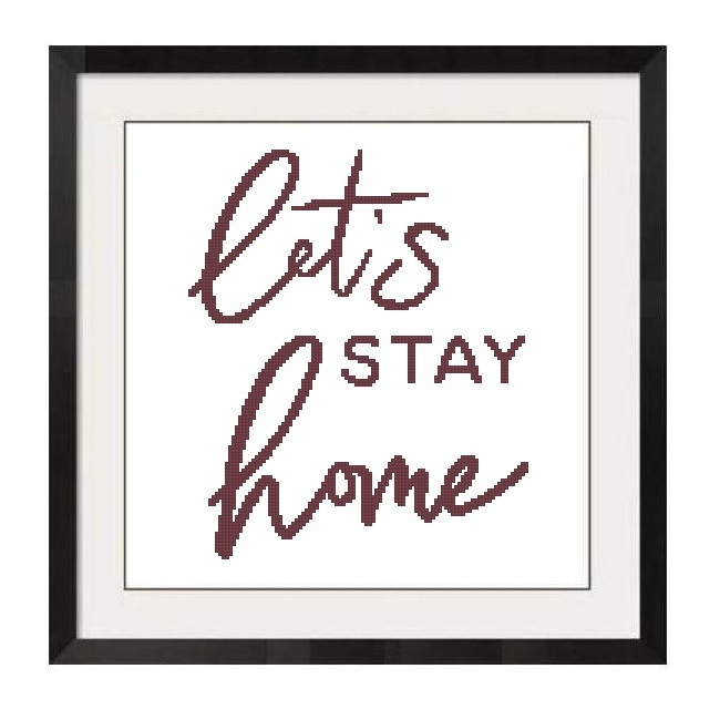 ALL STITCHES - LET'S STAY HOME CROSS STITCH PATTERN .PDF -1241