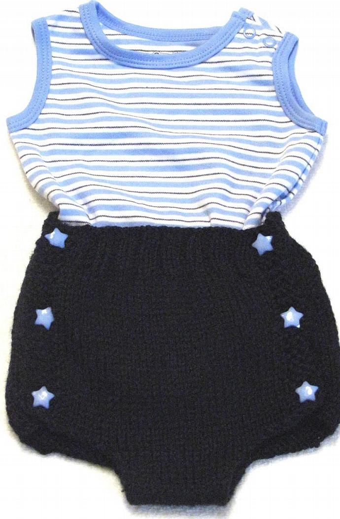 Knitting Diaper Cover Pattern - Large 6 -12 Months