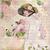 Lady and Hydrangeas Digital Collage Greeting Card2674