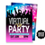 Social Distancing Virtual Party Invitation, Electronic Party Invite, Zoom Party,