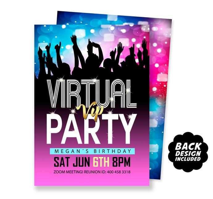 Virtual Happy Hour Party Invitation, Electronic Party Invite, Virtual Birthday