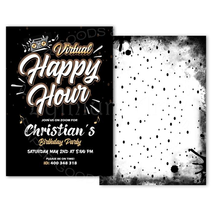 Virtual Happy Hour Invitation, Social Distancing Party Invitation, Zoom Party,