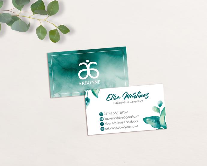 Personalized Arbonne Business Cards, Arbonne Business Card, Custom Arbonne
