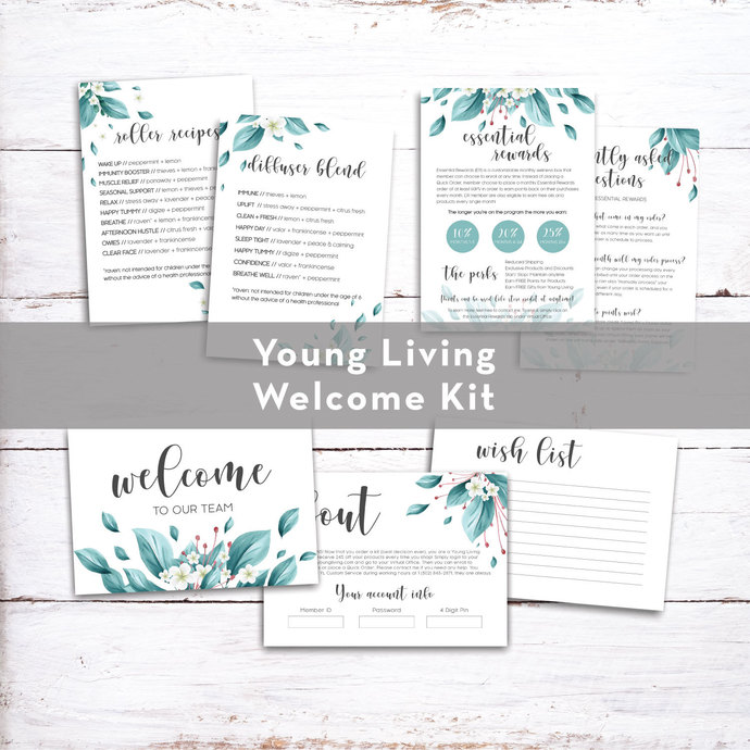 PRINTABLE Young Living Member Welcome Kit , YL Starter Kit Welcome YL49
