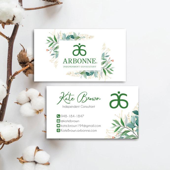 Arbonne Business Card, Arbonne Botanical business card, Arbonne AB40