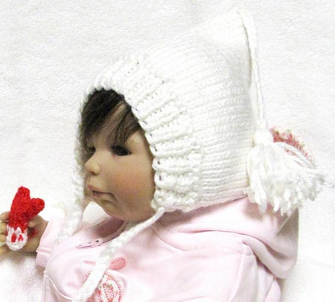 Pixie Baby Hat Knitting Pattern with Tassel in by ezcareknits on 8b1e770476b