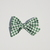 Spring Collection - Large Lizzy Clip - Green Leaves Gingham