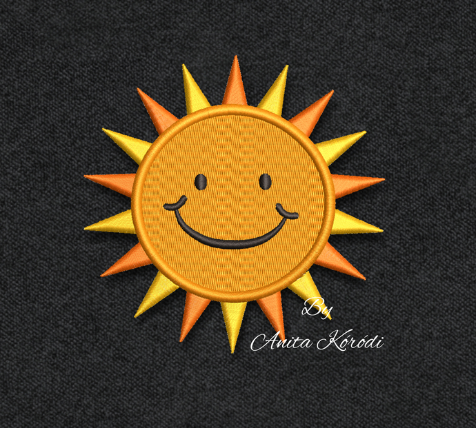 sun embroidery design for machine instant pes digital file instant download