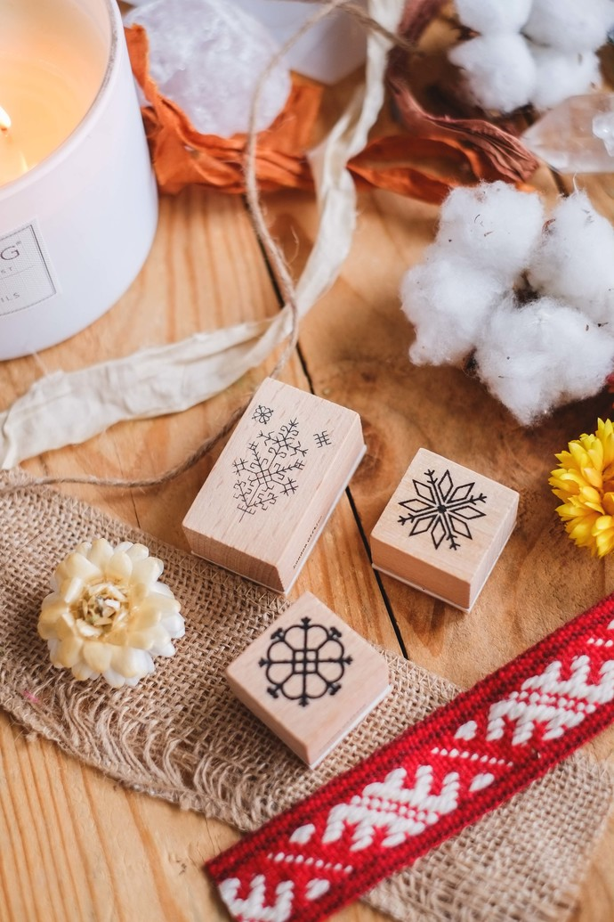 London Gifties design wooden rubber stamps - Latvian folklore symbols