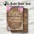 Wood and Floral Bridal Shower Invite- Printed or Digital