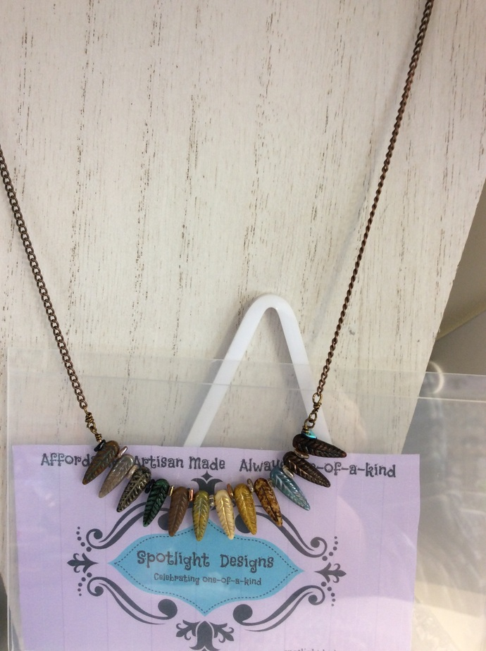 DIY Kit to  Make one NO Clasp Feather BAR style Necklace COMES with an ONLINE