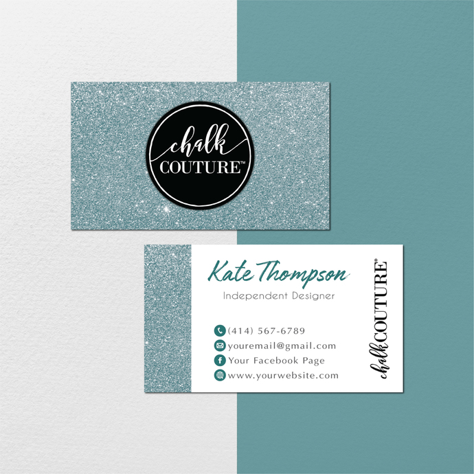Chalk Couture Cards, Personalized Chalk Couture Card, Glitter Chalk Couture