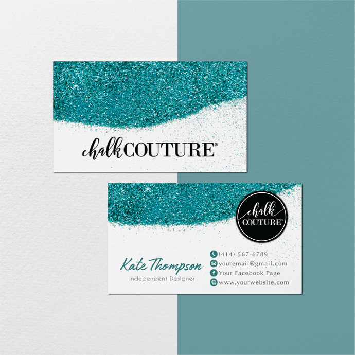 Personalized Chalk Couture Card, Chalk Couture Cards, Glitter Chalk Couture