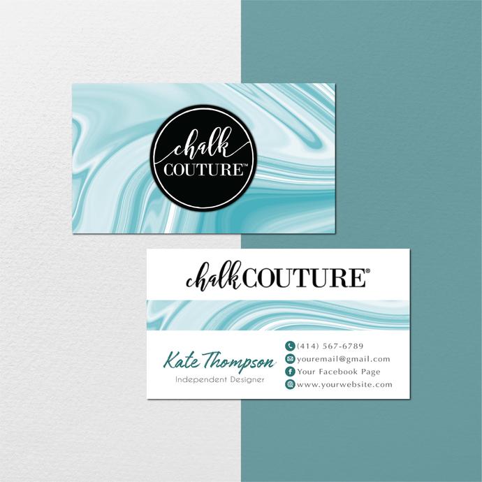 Personalized Chalk Couture Card, Chalk Couture Cards, Abstract Chalk Couture