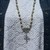 Herkimer Diamond Cross Long Beaded Necklace with pendant Elegant Jewelry by