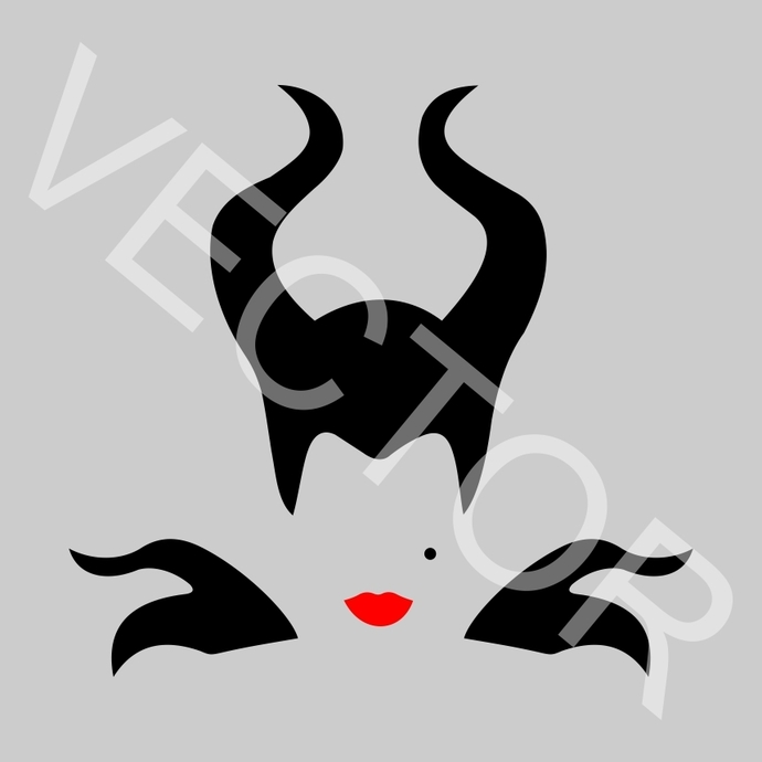 Maleficent v2 Graphics SVG Dxf EPS Png Cdr Ai Pdf Vector Art Clipart instant