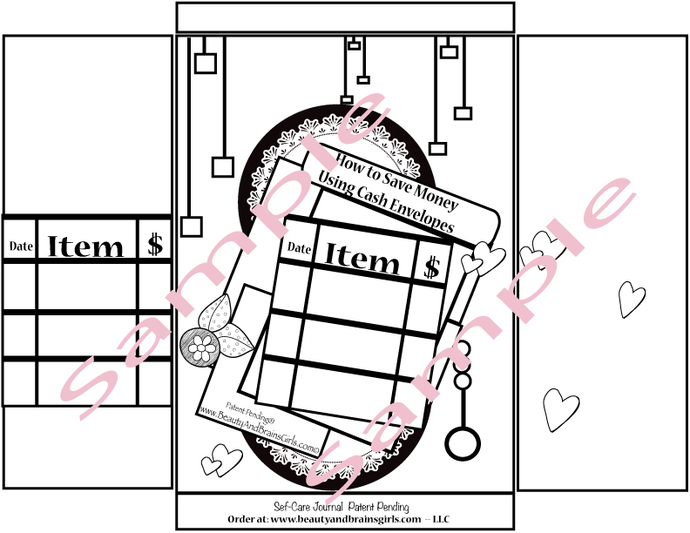 Sinking Funds Tracker- DIBudget Printable Envelope-Beauty and Brains Girls -How