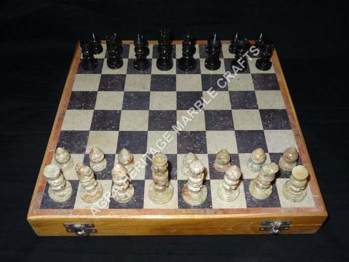 Wooden Chess Set Gorara Handmade Marble Chess Pieces Chess Lovers Best Gift