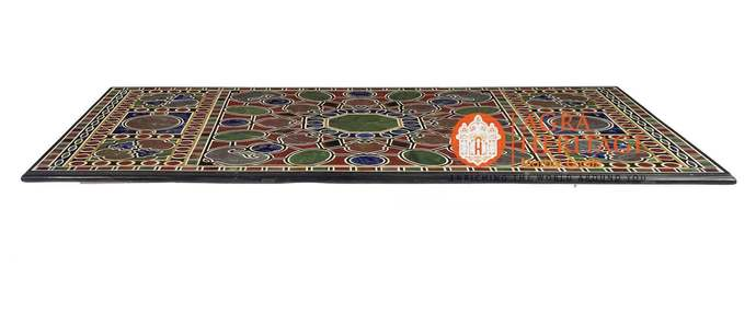 Decorative Marble Conference Dining Table Top Stunning Inlay Design Home Hallway