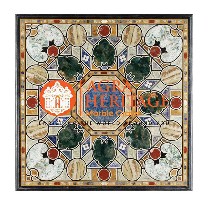Marble Side Dining Table Top Pietra Dura Inlay Italian Design Home Interior
