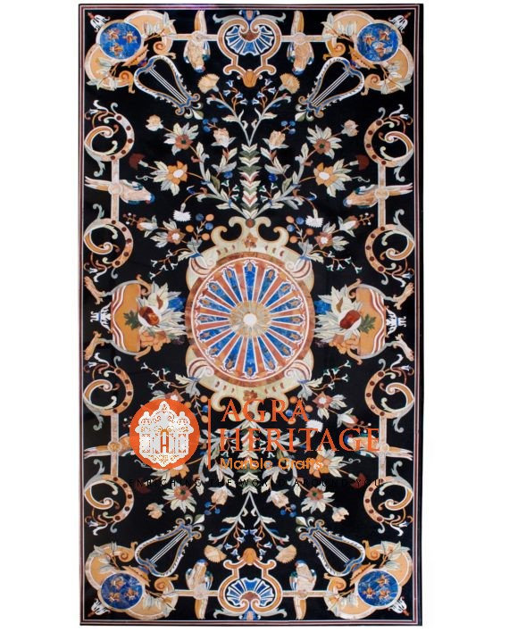Marble Center Dining Table Top Pietra Dura Italian Inlay Design Hallway Living