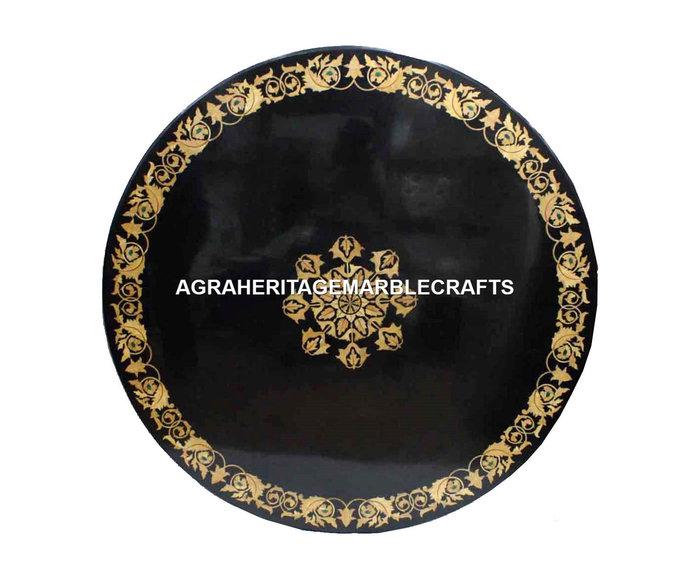 Marble Coffee Table Top Precious Inlay Stone Floral Art Bedroom Patio Decor