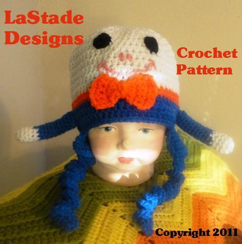 Humpty Dumpty Children's Hat PDF crochet pattern