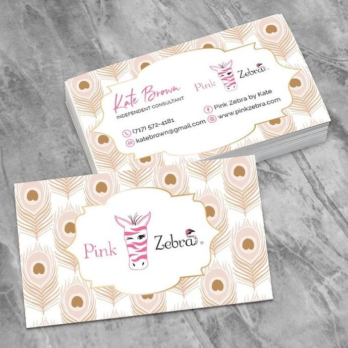 Personalized Pink Zebra Business Cards, Zebra Business Card PZ04