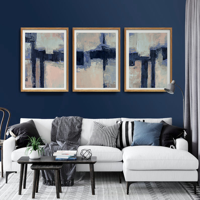 Set of 3 , Minimalist Abstract Prints, Printable Triptych, Scandinavian Decor,