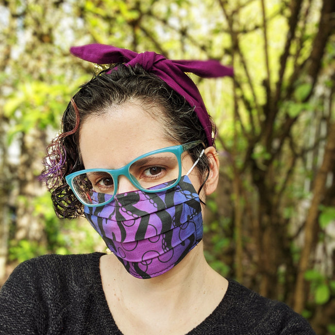 Pleated Face Mask Sewing Pattern PDF