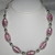 Bold Pink Foil Lampwork and Silver Plated Bead Statement Necklace