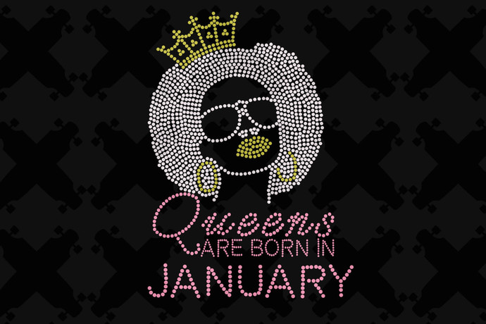 Queens Are Born In January Svg, Queen Born In January Svg, January Girl Svg,