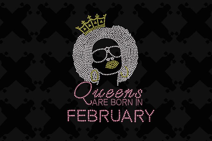 Queens Are Born In February Svg, Queen Born In February Svg, February Girl Svg,