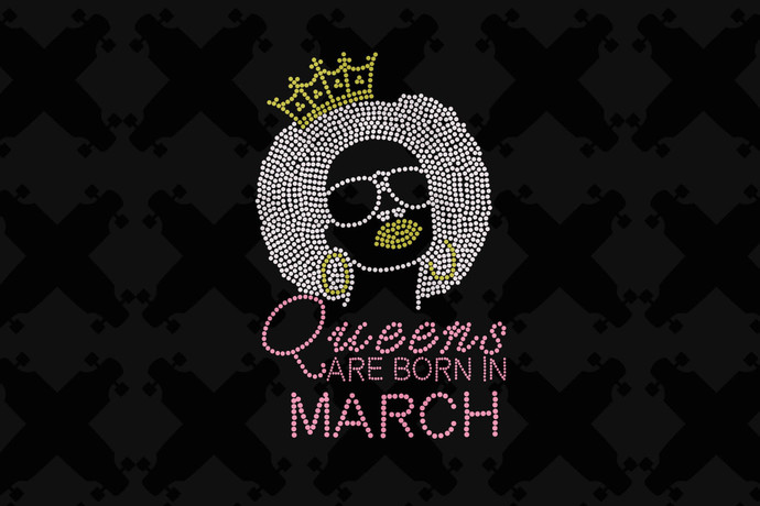 Queens Are Born In March Svg, Queen Born In March Svg, March Girl Svg, Born In