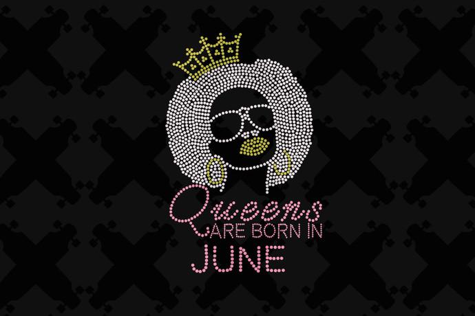 Queens Are Born In June Svg, Queen Born In June Svg, June Girl Svg, Born In