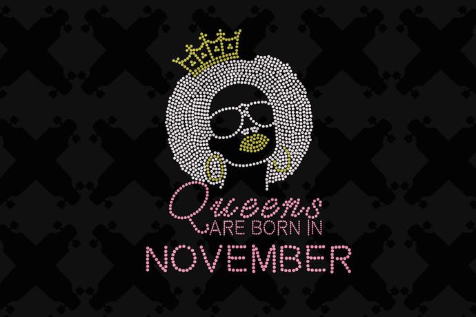 Queens Are Born In November Svg, Queen Born In November Svg, November Girl Svg,