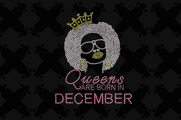 Queens Are Born In December Svg, Queen Born In December Svg, December Girl Svg,