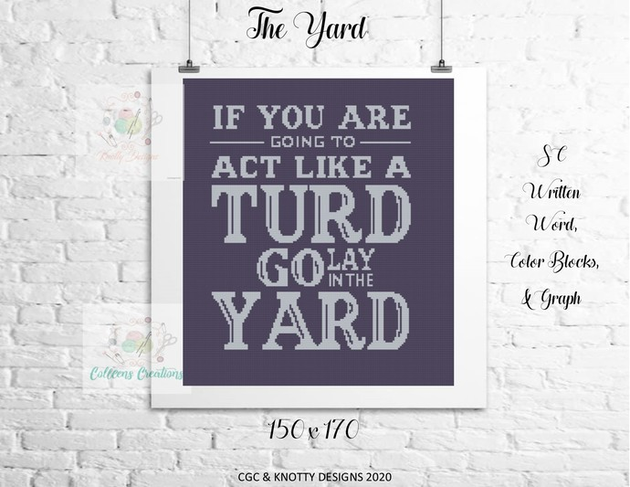 The Yard Crochet Written Word and Graph Design