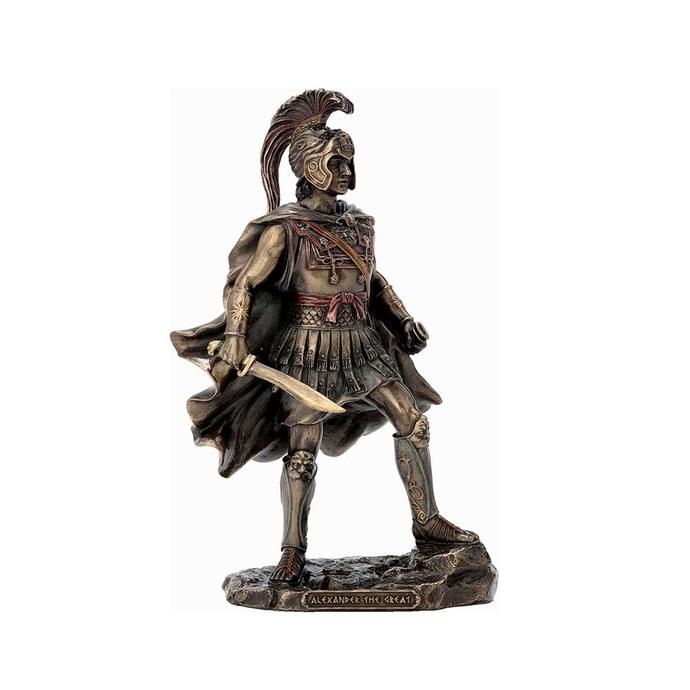 Alexander The Great Bronze Sculpture - The king of Macedonian Figurine Statue