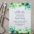Green Floral Baby Shower Invitation, Greenery Baby Shower Template BS24