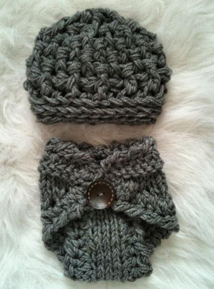 Newborn Diaper Cover- Slate Grey or other color requests