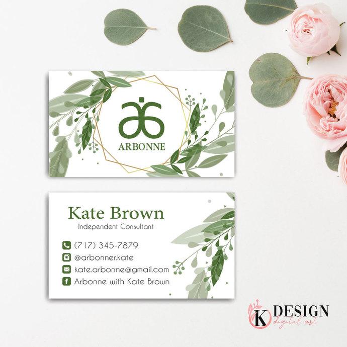 Arbonne Business Card, Arbonne Botanical business card, Arbonne AB34