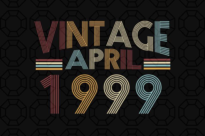 Vintage April 1999, born in April, born in 1999, 21st birthday gift, 21st