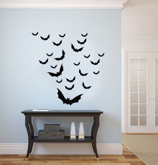 23 Bat Decals - Halloween DIY - Perfect for Walls and More