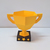DIY Trophy cup favor,Papercraft trophy,Trophy hockey,gift box,Candy box,Paper