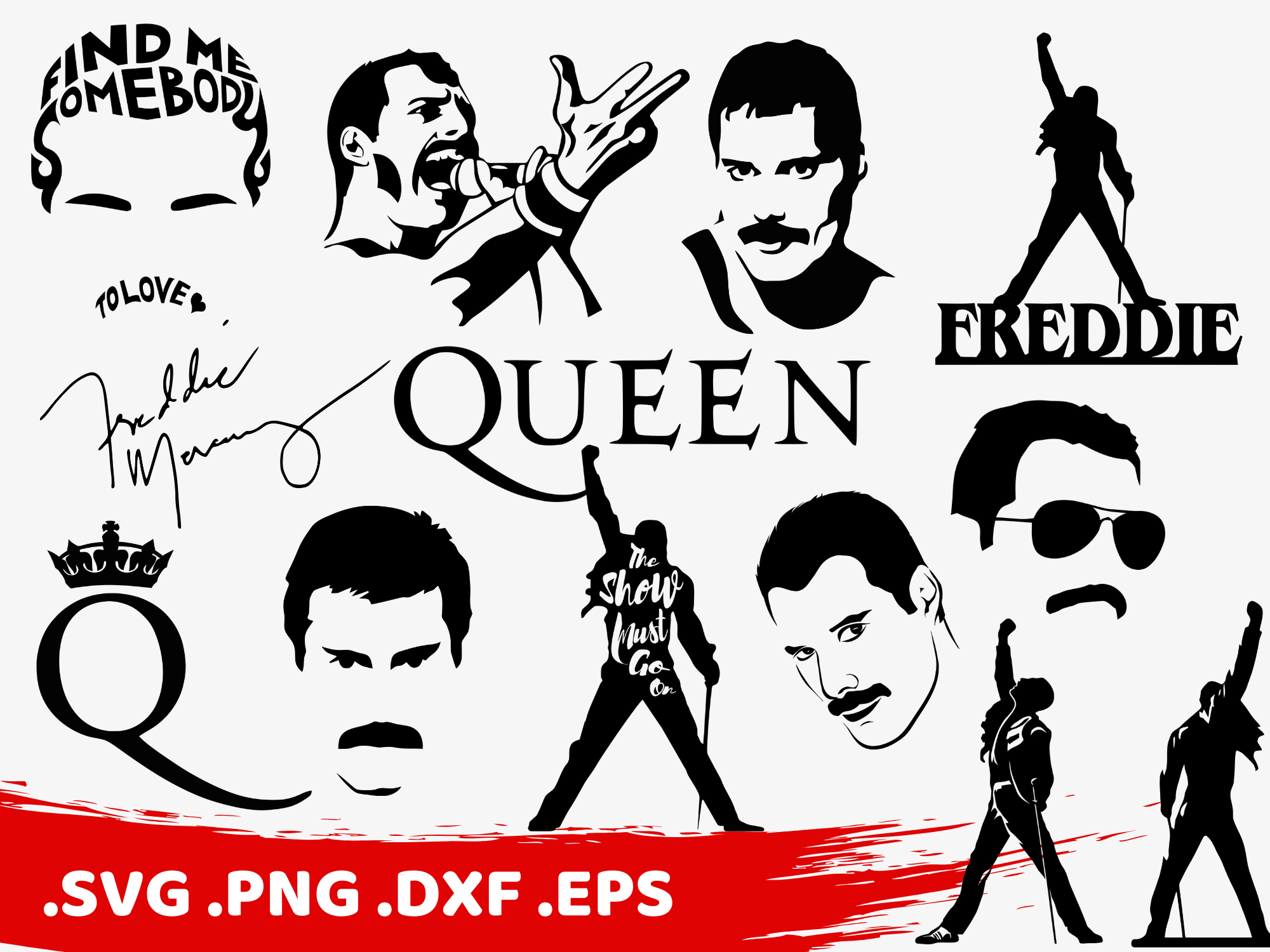 clipartshop freddie mercury svg by clipartshopcreations on zibbet clipartshop freddie mercury svg freddie silhouette queen svg queen silhouette freddie cut file freddie printable show must go on svg
