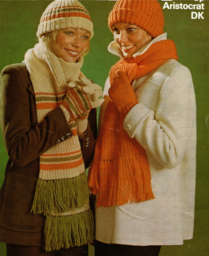 Womens Hat, Scarf and Gloves Knitting Pattern PDF Ladies Winter Accessories,