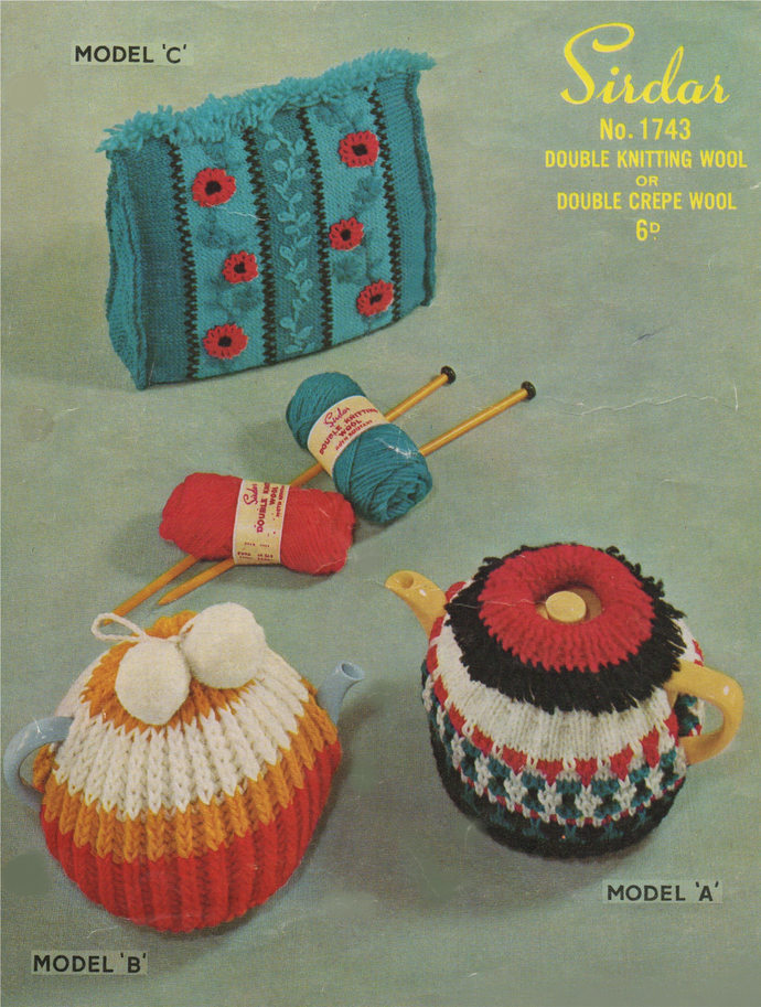 Tea Cosy Knitting Pattern PDF in 3 designs, Tea Cosies, Tea Pot Covers, Tea Pot