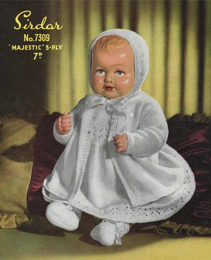 Teddy Bears or Dolls Clothes Knitting Pattern PDF Baby Doll or Teddy with 14 to