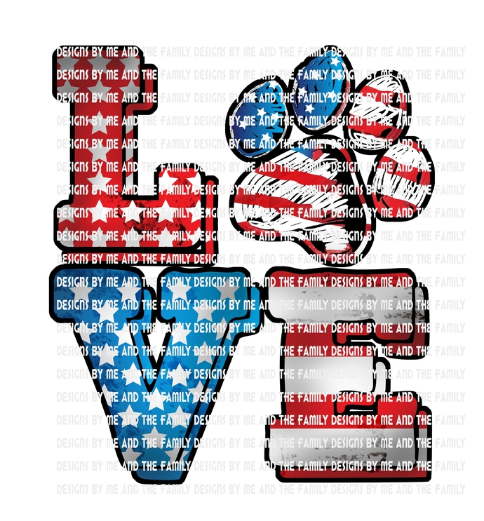 Love dog paw life red white and blue 2, Dog Mom, Peace love dog, best friend, i